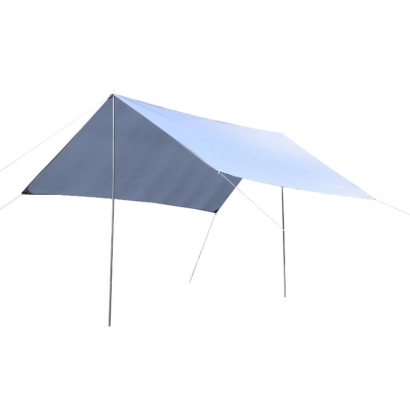 Outsunny Toldo de Refugio Portátil Impermeable 3x3 m Carpa Tienda de Campaña Grande para Camping Playa Picnic Protección Solar Blanco