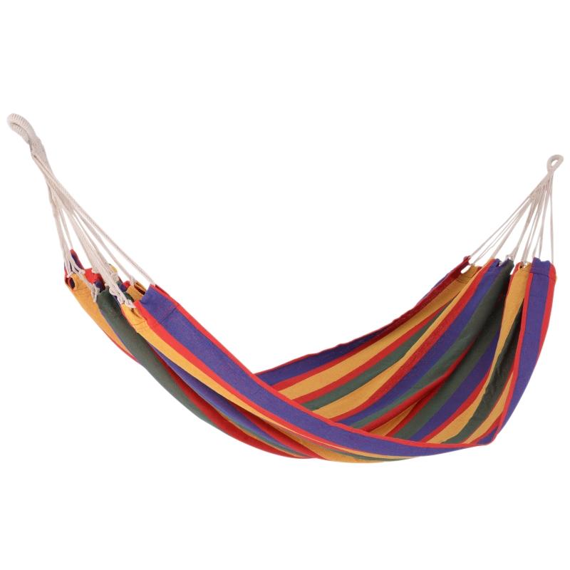 Hamaca para Colgar en Jardín Piscina Playa o Camping - Multicolor - 70% Algodón - 200x100cm
