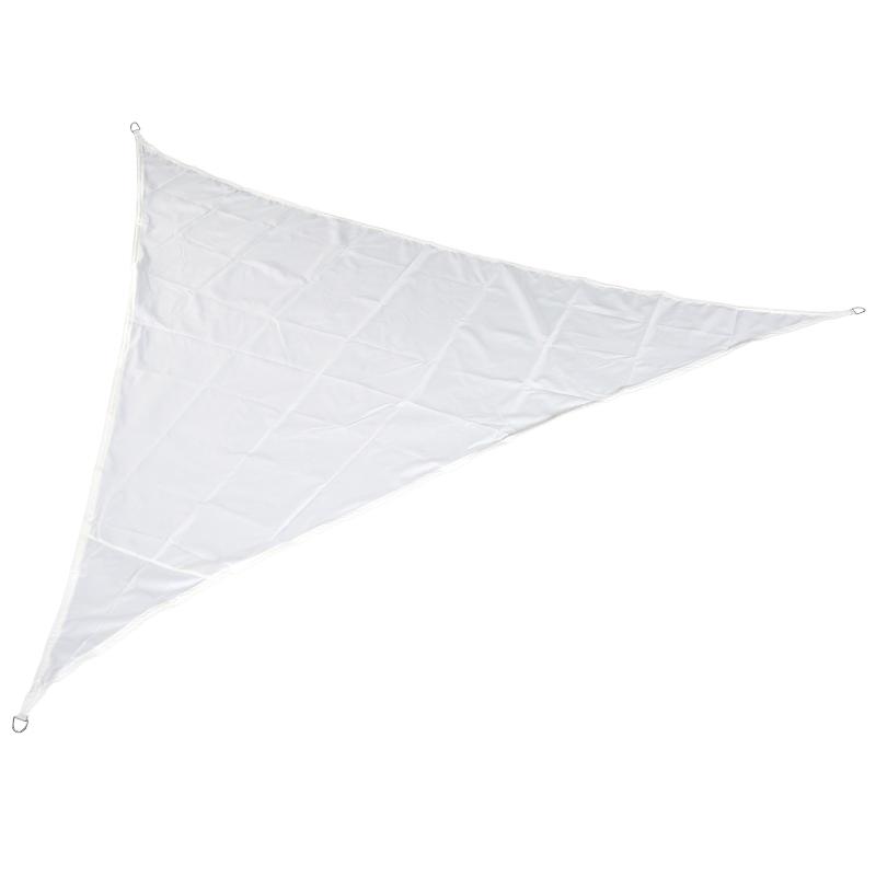 Outsunny Toldo Vela 5x5x5m Triángulo Color Crema Sombrilla Parasol Terraza Jardín Camping
