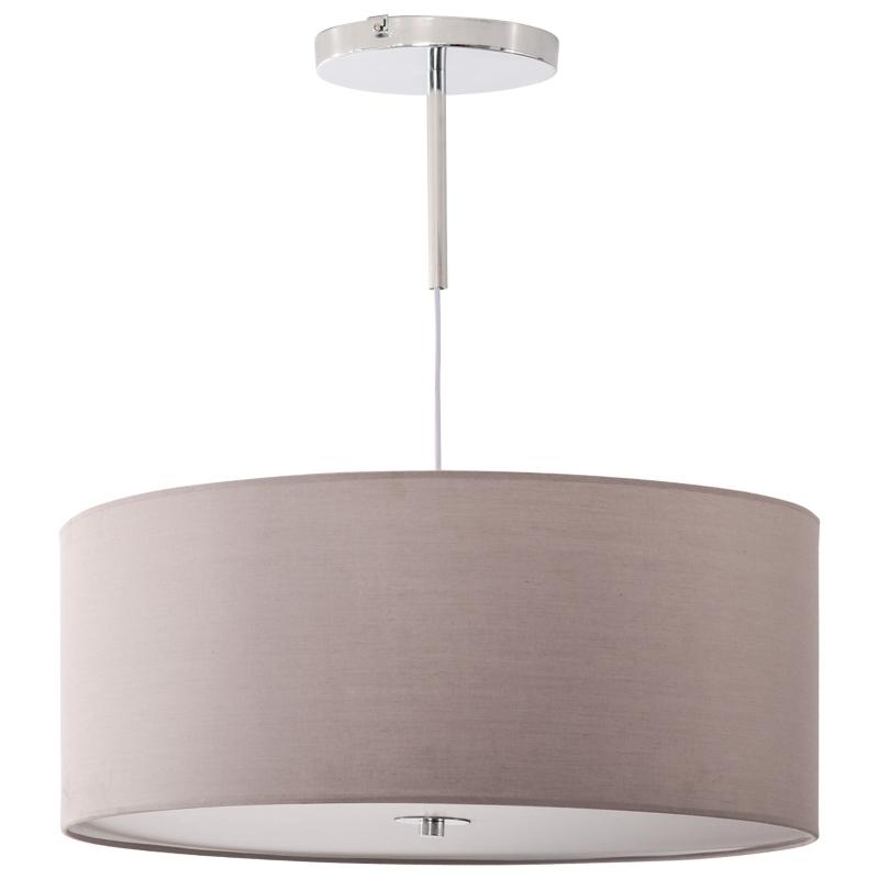 HOMCOM Lámpara de Suspensión Ø59x44 cm Lámpara Colgante Textil con Luces LED 35W con 3 Modos de Color y Soporte de Metal Dormitorio Sala de Estar Gris