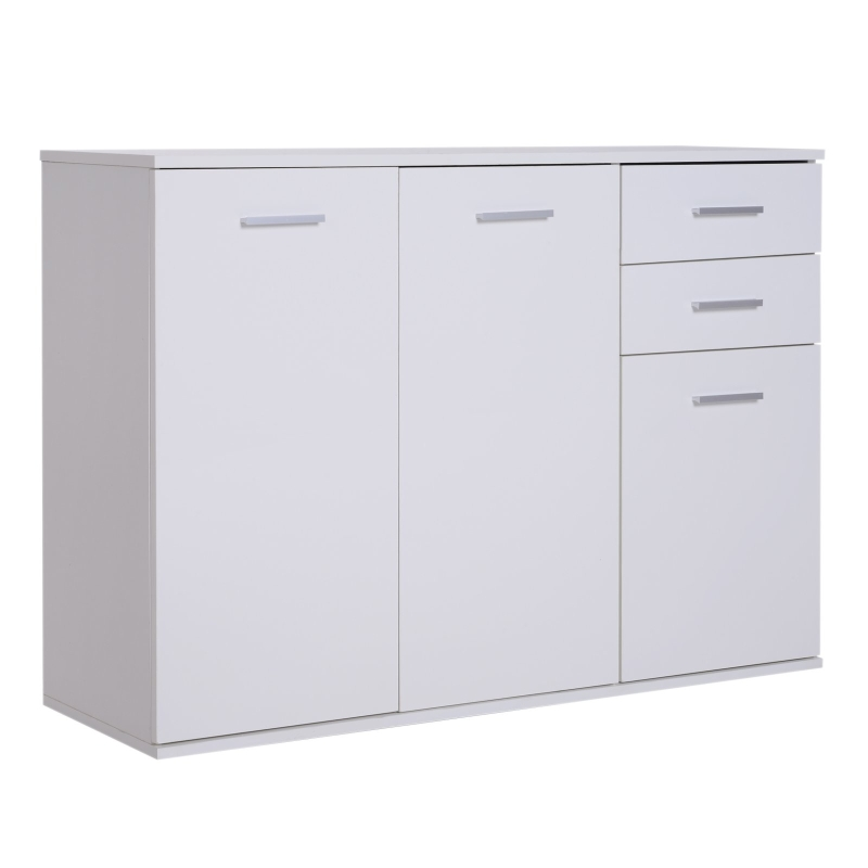 HomCom® Armario Gabinete Mueble Organizador de Almacenaje Multiusos de Comedor Salón con Puertas y Cajones 106x35x76cm