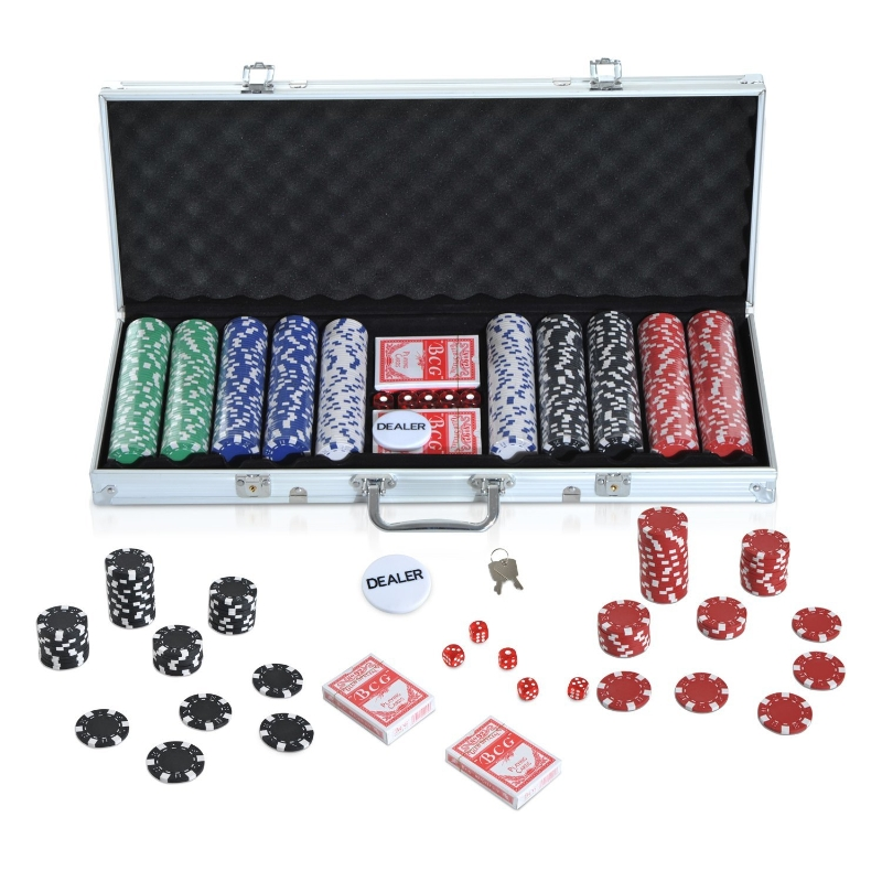 HOMCOM Maletín de Poker - Alumnio Colorido 56x22x7cm
