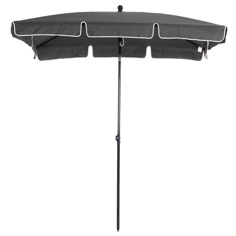 Outsunny Sombrilla Grande Parasol Reclinable 2.35m Sombrilla Impermeable y Resistente a UV para Jardín Patio Playa Piscina Terraza
