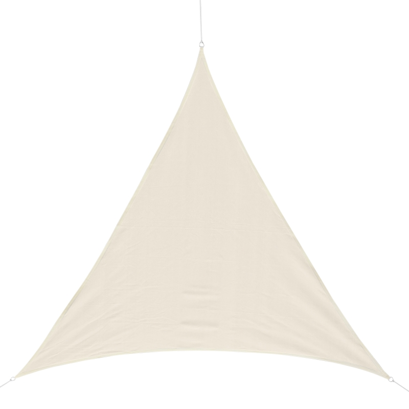 Outsunny Toldo Vela 5x5x5m Triangulo Sombrilla Parasol Terraza Jardin Camping Color Blanco