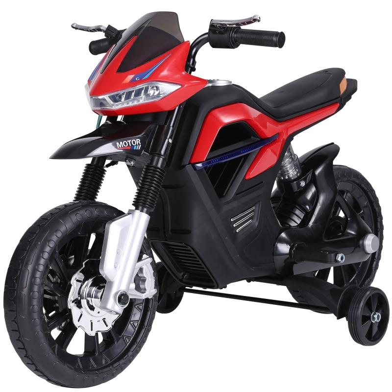 HOMCOM Moto Eléctrica Infantil Moto de Juguete Niños +3 Años Batería 6V con Luces y Música 105x52.3x62.3cm