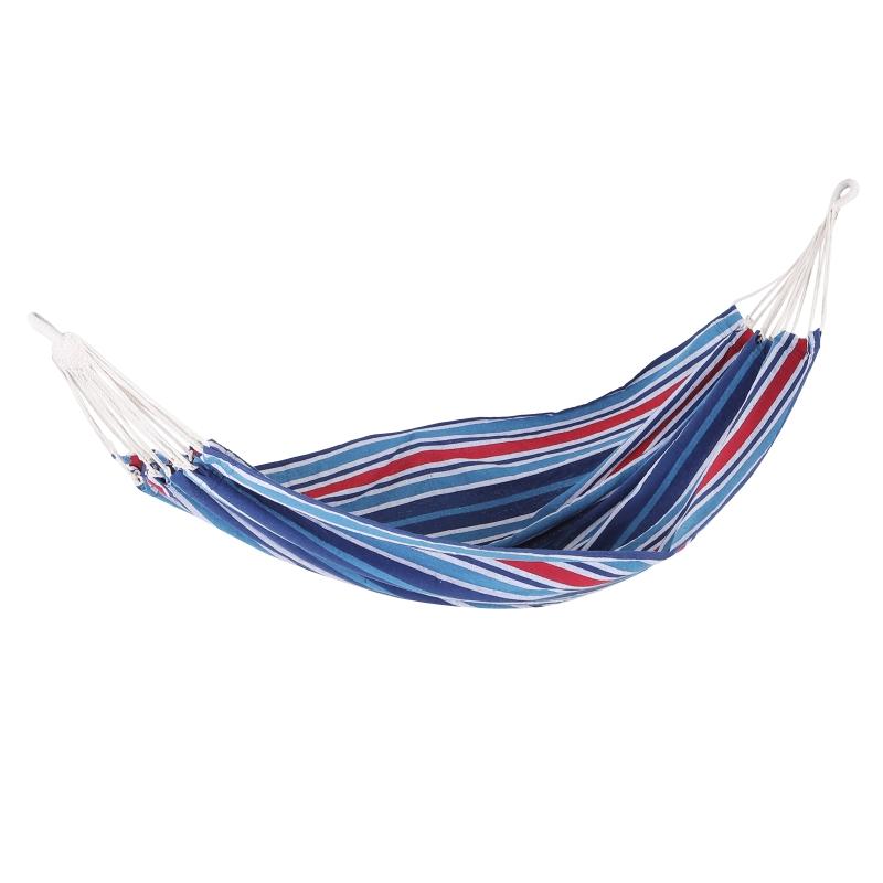 Hamaca Colgar 210 x 150 cm Playa Piscina Jardin Camping 70% Algodon Azul