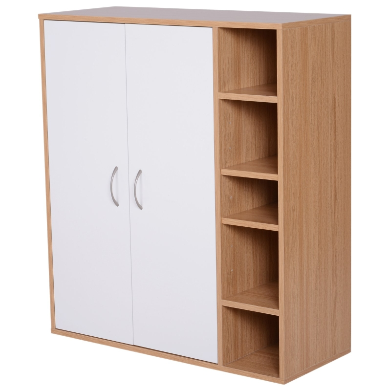 HomCom® Armario Gabinete Consola Zapatero Armario Bajo Mueble Organizador de Almacenaje Multiusos de Cocina Comedor Salón Baño 80x32x90.5cm