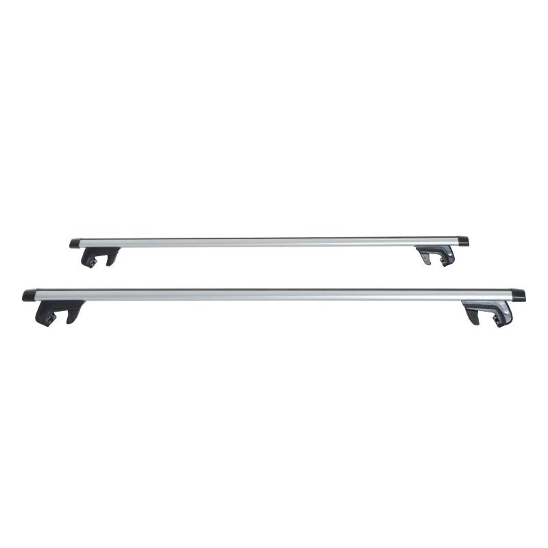 HOMCOM Juego de Barras para Techo Aluminio Universal Baca Portaequipajes Coche con Cierre 135cm