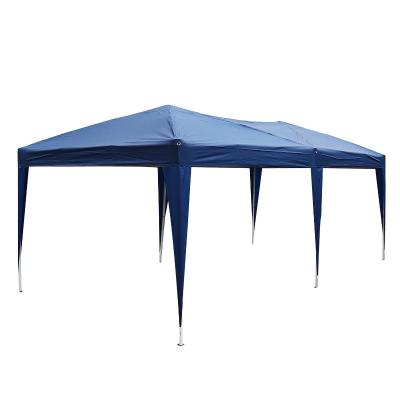 Outsunny Carpa Plegable en Acordeón 5,91x2,97x2,55 m con Toldo Bolsa Transporte Incluida Cenador Gazebo de Acero Tela Oxford Resistente al Agua Color Azul