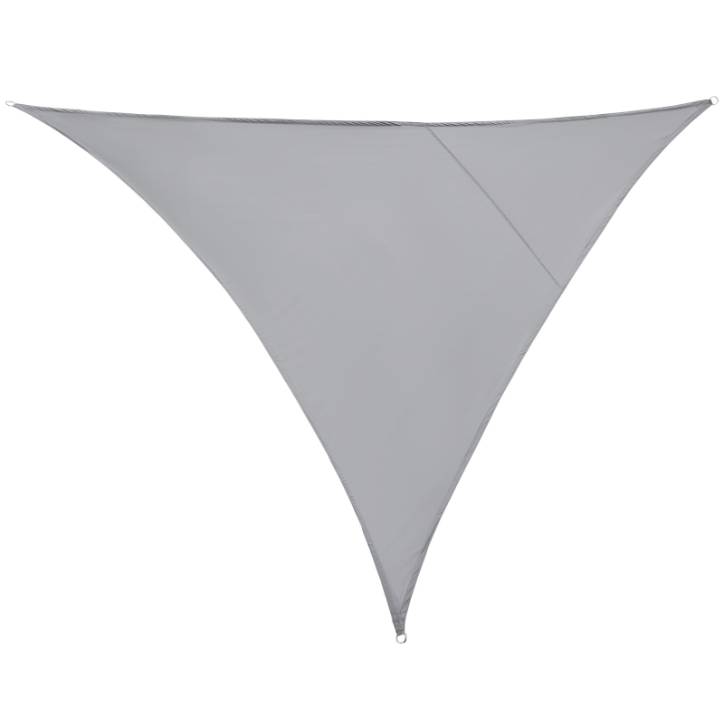 Outsunny Toldo Vela Triangular 3x3x3m Toldo tipo Sombrilla o Parasol Triángulo para Terraza Jardín o Camping Tela de Poliéster Color Gris