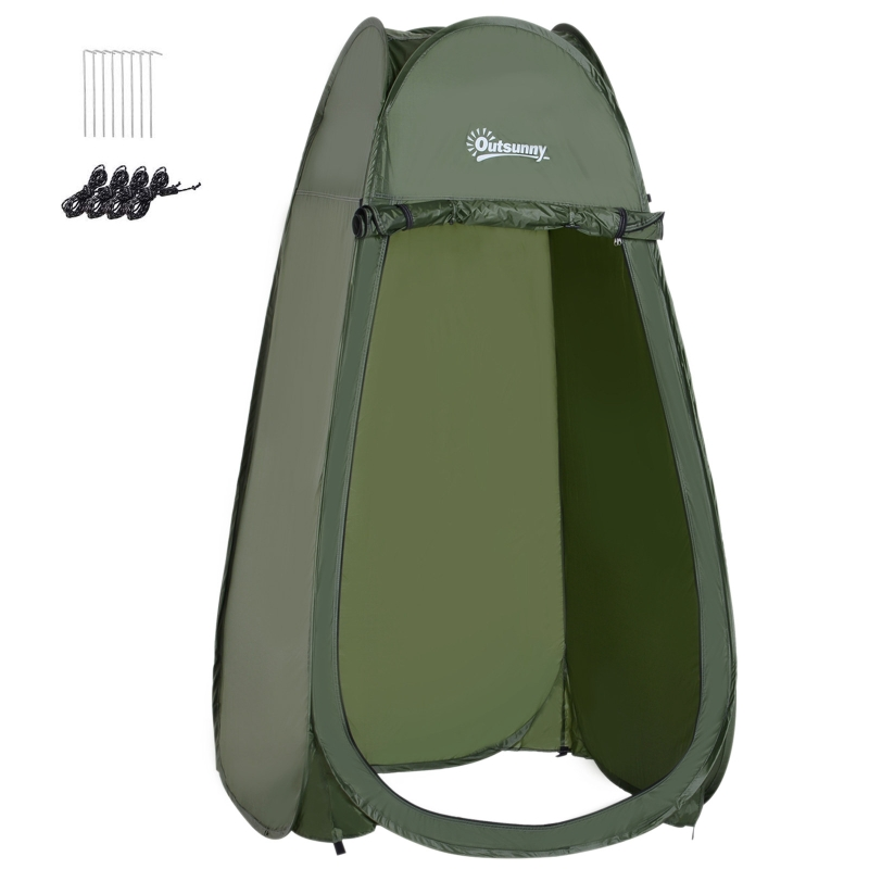 Outsunny Tienda de Campaña Instantánea tipo Carpa Ducha o Cambiador  para Camping - 100x100x185cm