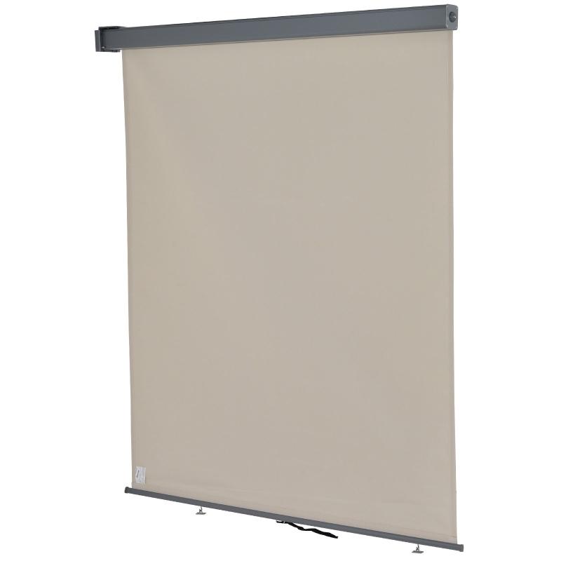 Outsunny Toldo para Balcón Doble Posición 160x250 cm Colocación en Techo o Pared Función Vertical y Horizontal con Tirador