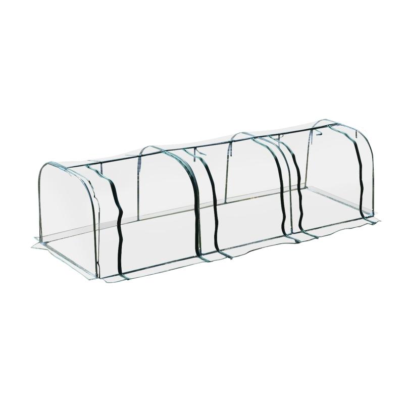 Outsunny® Invernadero Caseta 350x100x80cm para Jardín Terraza Cultivo de Plantas Semilla