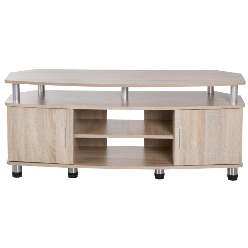 HomCom® Mesa Soporte de TV Mueble de Comedor Salón Moderno Armario 2 Puertas 2 Estantes 120x39.5x52cm