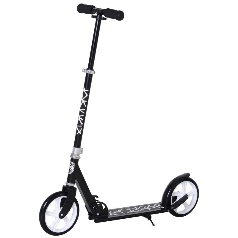 HOMCOM Patinete Plegable Scooter con Manillar Altura Ajustable 86/92/98cm Patinete para Adultos y Niños (más de 14 años) Tipo Monopatín Carga 100kg