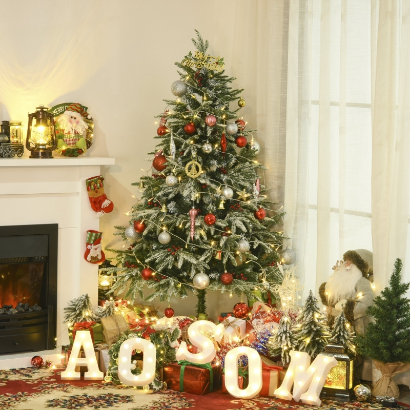 HOMCOM Árbol de Navidad Artificial 150 cm de Altura con 56 Bayas 451 Ramas de PE y PVC Base Plegable y Soporte Metálico Decoración Navideña para Interiores Verde