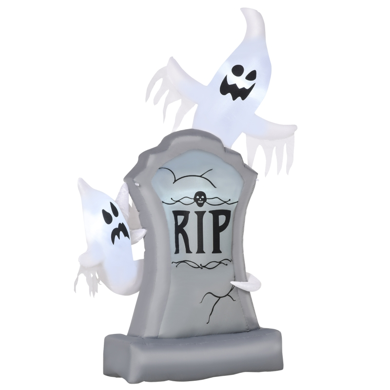 HOMCOM Fantasmas Inflables de Halloween con Luces LED Decoración Hinchable para Fiestas