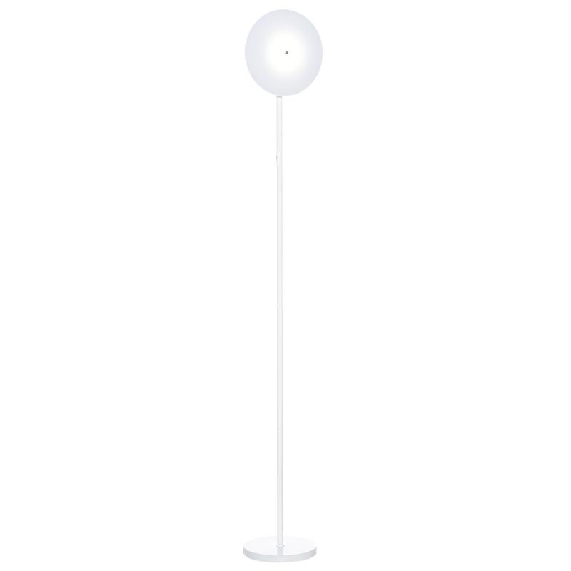 HOMCOM Lámpara de Pie LED 18W/1800 lm con 3 Brillos Ajustables Cabezal Giratorio Blanco