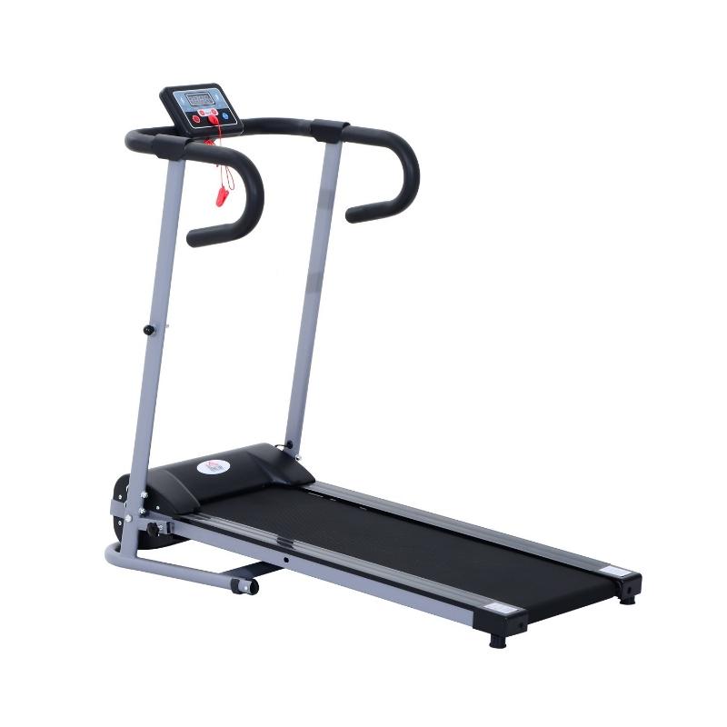 HOMCOM Cinta Andadora Plegable y Eléctrica de 500W para Fitness 1-10Km/h con Pantalla LCD y Carga Máx. 110 kg Negro y Gris