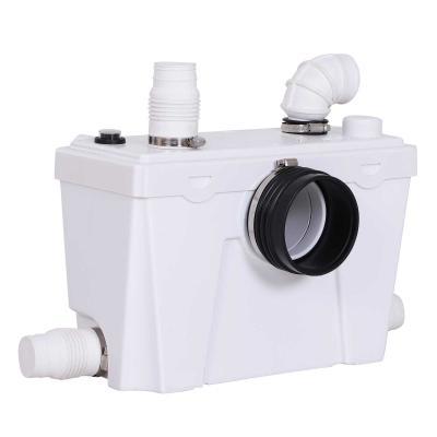 HOMCOM Bomba Trituradora Sanitaria de Agua Residual con 400W y 4 Entradas para Baño Cocina y Lavabo 40x17x28 cm Blanco
