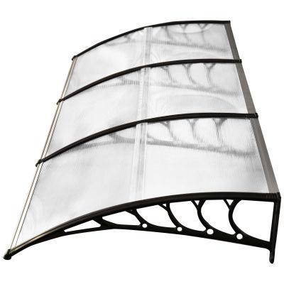 Outsunny Tejadillo de Protección 295x90x25 cm contra Sol y Lluvia para Puertas Ventanas Marquesina de Techo Aleación de Aluminio Duradero