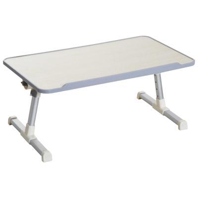 HOMCOM Mesa de Ordenador Ajustable y Plegable Soporte Escritorio 54x30x22,5-32cm Roble y Plata