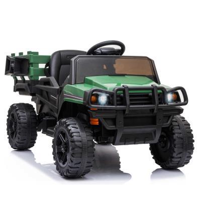 HOMCOM Coche Eléctrico para Niños de +3 Años Todoterreno con 2 Motores Control Remoto 2,4 GHz Batería Recargable 120x67x65 cm Verde