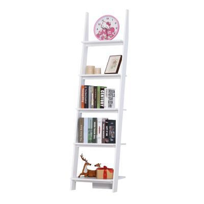 HomCom® Estantería Escalera Librería con 5 Estantes Moderna Estantería Escalonada de Pared  Dimensiones totales: 50x40x195cm (LxANxAL)