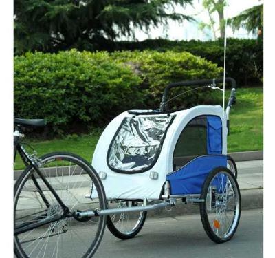 Remolque para Perros Carro para Bicicleta con Kit de Footing Perro Gato Mascotas 91