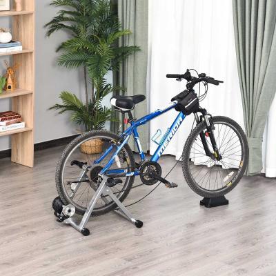 HOMCOM Rodillo de Bicicleta 5 Niveles de Resistencia Cicloentrenador Entrenamiento de Acero 54,5x42,2x39,1cm Plata