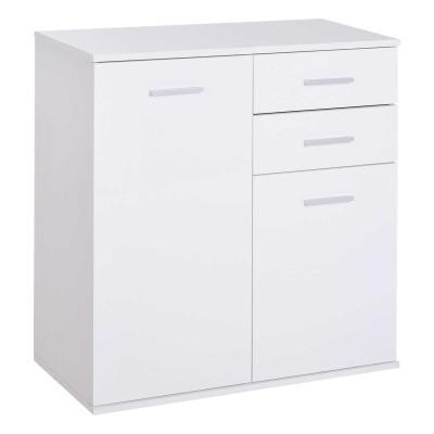 HomCom® Armario Gabinete Mueble Organizador de Almacenaje Multiusos de Comedor Salón con Puertas y Cajones 71x35x76cm