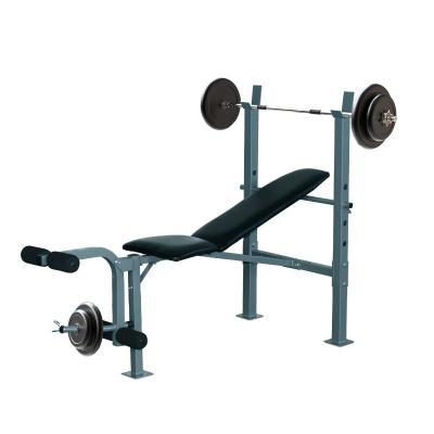 HOMCOM Banco de Musculación Banco de Pesas Maquina de Fitness Entrenar Musculos 165x68x114cm con Respaldo Regulable Espuma