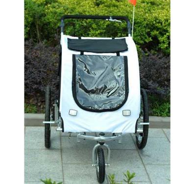 Remolque para Perros Carro para Bicicleta con Kit de Footing Perro Gato Mascotas 90