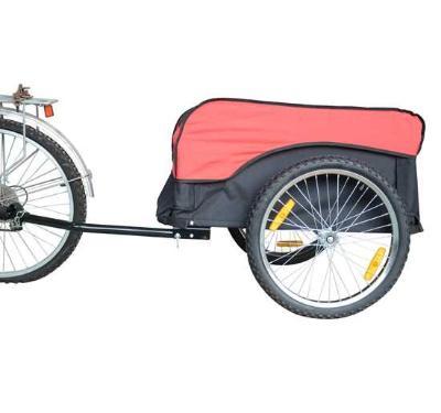 "Remolque 86x61x39cm para Bicicleta + Barra de Traccion Carga Max 60Kg Ruedas 20"""