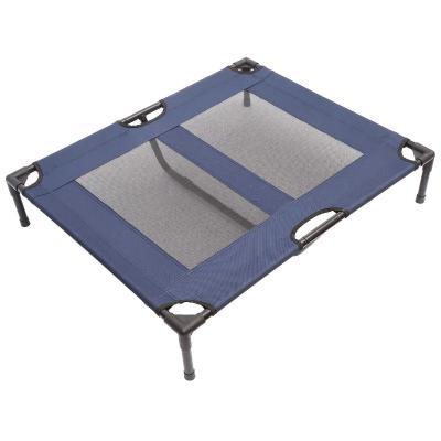 Pawhut Cama para Mascotas Interior y Exterior 91,5x76,2x18cm Cama para Perros Desmontable Portátil Color Azul y Negro