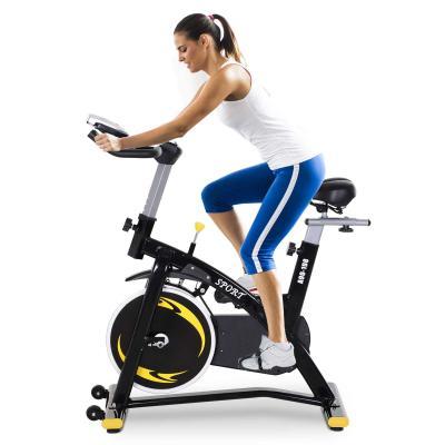 HOMCOM Bicicleta Estática Profesional Bicicleta Fitness con Pantalla LCD Asiento e Ejercicio Regulables Resistencia Magnética 47x120x104.5-117cm