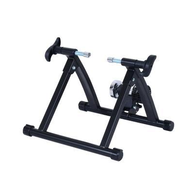 HOMCOM Rodillo Magnético Bicicleta Rodillo para Ciclismo Plegable de Acero Entrenamiento Capacidad Máx. 135 kg 54.5x47.2x39.1cm Negro