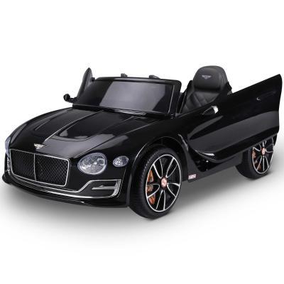HOMCOM Coche Eléctrico para Niños +3 Años 2 Modos de Control con Música Faros Retroceder Bentley GT Licencia Automóvil Infantil 108x60x43 cm Negro
