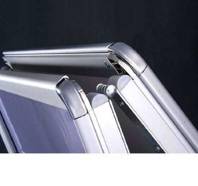HomCom Panel Publicitario Blanco Aluminio PVC 64x8x118cm
