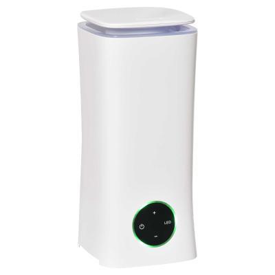 HOMCOM Humidificador Ultrasónico 2L Difusor de Aromas con 3 Modos de Pulverización 7 Colores LED Ultra Silencioso para el Hogar Oficina 15x15x34 cm Blanco