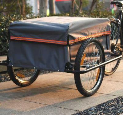 HomCom Remolque de Transporte Gris Negro Rojo Acero Oxford 80x60x36cm