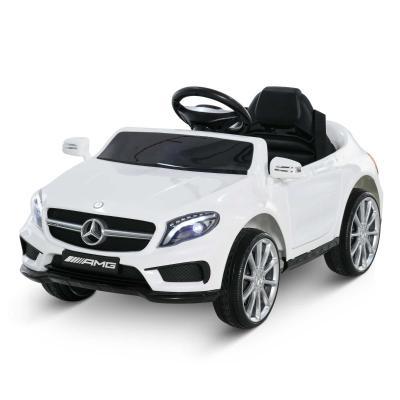 HOMCOM Coche Eléctrico para Niños 3+ Años Automóviles Infantiles Mercedes Benz GLA con Mando a Distancia MP3 USB Luces y Sonidos Apertura de Puerta Carga 30kg 100x58x46cm